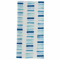 """26"""" x 18"""" Blue and Aqua Oceana Blocks Kitchen Towel"""