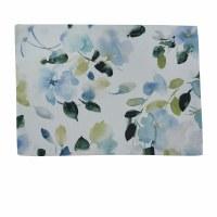 """13"""" x 19"""" Blue Flowers Hidden Beauty Fabric Placemat"""
