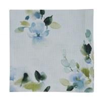 "20"" Square Blue Flowers Hidden Beauty Fabric Napkin"