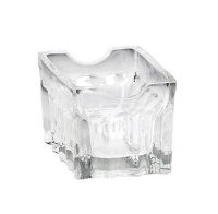 """4"""" Clear Fluted Glass Sugar Packet Holder"""