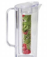 64 oz Clear Plastic Infusion Pitcher With Lid