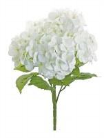 "21"" White Natural Touch Hydrangea  Bush"