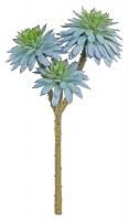 """11"""" Faux Blue Sage Triple Daisy Succulent Bundle"""