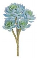 "12"" Faux Blue Sage Five Head Echeveria"