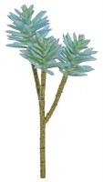 "11"" Faux Blue Sage Spiny Succulent Spray"