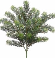 "18"" Faux Green Round Tip Pine Bush"