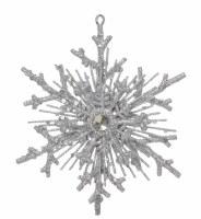 """8"""" Silver Glitter Snowflake Ornament"""