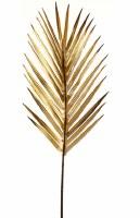 "37"" Faux Gold Metallic Palm Frond Spray"