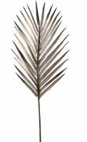 """37"""" Faux Pewter Metallic Palm Leaf Spray"""