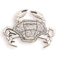 """7"""" Silver Metal Crab Trivet"""