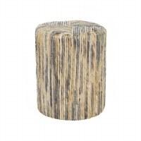 "15"" Round Natural Banana Leaf Rope Stump Table"