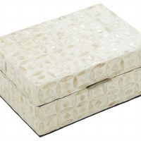 """9"""" x 12"""" Gold Mother of Pearl Mosaic Box With Lid"""