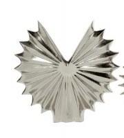 "15"" Silver Fanned Metal Circle Vase"