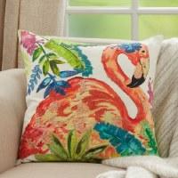 "20"" Square Pink Flamingo Pillow"
