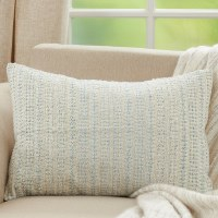 """16"""" x 24"""" Aqua Woven Lumbar Pillow"""