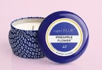 3 oz Pineapple Flower Mini Blue Tin Candle