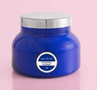 19 oz Pineapple Flower Blue Jar Candle