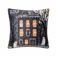 """18"""" Square LED Haunted House Boo Pillow"""