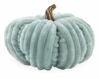 "9"" Round Large Aqua Plush Pumpkin"