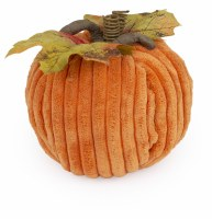 """5"""" Round Orange Chenille Pumpkin"""