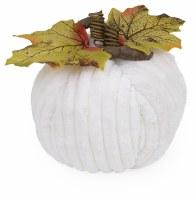 """5"""" Round White Chenille Pumpkin"""