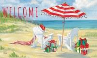 "18"" x 30"" Beach Chairs and Umbrella Welcome Doormat"