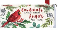 """7"""" x 17"""" Cardinals and Angels Holly Berry Mailbox Cover"""