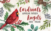 """18"""" x 30"""" Cardinals and Angels Holly Berry Doormat"""