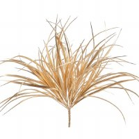 """22"""" Faux Gold Metallic Grass Bush"""