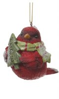 """3"""" Red Cardinal With Hope Tree Ornament"""