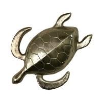 "19"" Silver Metal Sea Turtle"