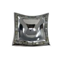 """7"""" Square Silver Meal and Mother of Pearl Dish"""