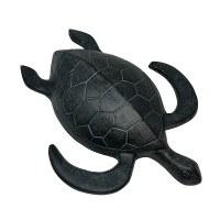 "19"" Verdigris Metal Sea Turtle"