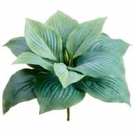 "7"" Faux Green Frosted Hosta Leaf Bush"