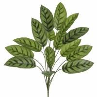 "28"" Faux Green Calathea Bush"