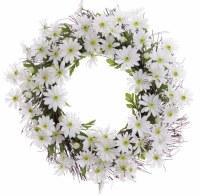 """24"""" Round White Daisy Wreath"""