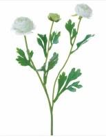 "20"" Faux White Ranunculus Spray"