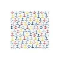 "5"" Square Multicolor Anchors Beverage Napkins"