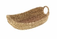 """21"""" Oval Natural Seagrass Basket With Round Handles"""
