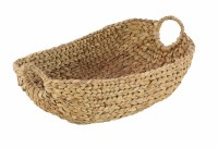 """19"""" Oval Natural Seagrass Basket With Round Handles"""