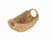 """12"""" Oval Natural Seagrass Basket With Round Handles"""