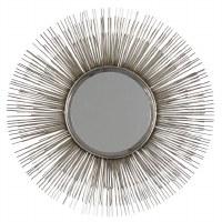 """29"""" Round Silver Sunburst Rods Wall Mirror"""