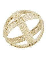 """7"""" Round Natural Wicker Open Weave Orb"""