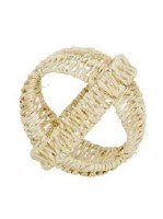 """5"""" Round Natural Wicker Open Weave Orb"""