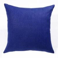 """20"""" Square Estate Blue Flat Weave Linen Pillow"""