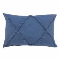 "16"" x 24"" Coronet Blue Diamond Tufted Pillow"
