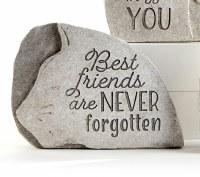 """7"""" Best Friends Polyresin Cat Memorial Garden Stone"""