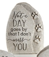 """7"""" Not a Day Goes By Polyresin Pet Memorial Garden Stone"""