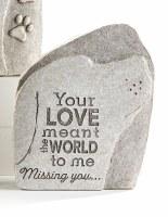 """7"""" Your Love Polyresin Dog Memorial Garden Stone"""