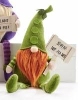 """18"""" Spread Hap-Pea-Ness Green Peas Shelf Sitter Veggie Gnome"""